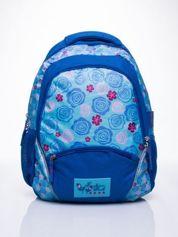 Niebieski plecak szkolny DISNEY w kwiatki