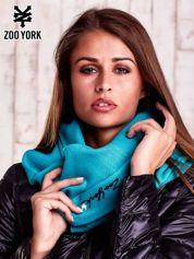 Niebieski szalik z naszywką ZOO YORK