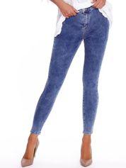 Niebieskie denimowe spodnie high waist