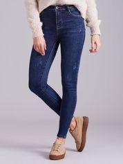 Niebieskie dżinsy high waist