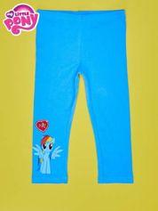 Niebieskie legginsy dla dziewczynki z nadrukiem MY LITTLE PONY