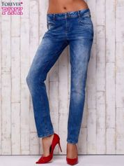 Niebieskie spodnie jeansowe marble denim