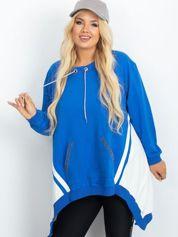 Niebiesko-biała bluza plus size Relief