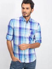 Niebiesko-miętowa koszula męska Guard