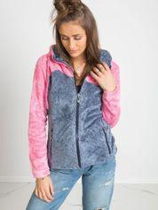 Niebiesko-różowa bluza Couture
