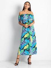 Niebiesko-zielona sukienka Caraibbean