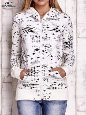 O'NEILL Ecru bluza z kapturem z motywem gwiazd