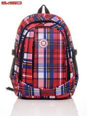 Plecak szkolny w kolorową kratę