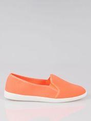 Pomarańczowe lekkie buty sliponki