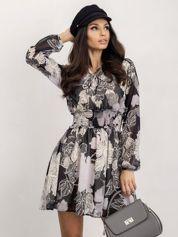 RUE PARIS Czarno-biała sukienka Riva