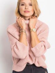 RUE PARIS Różowy sweter Darling