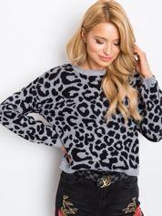RUE PARIS Szaro-czarny sweter Jacky