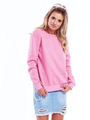 Różowa bluza basic