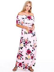 Różowa kwiatowa sukienka hiszpanka