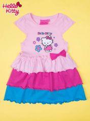Różowa spódnica dla dziewczynki HELLO KITTY z kokardką