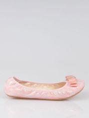 Różowe baleriny na gumkę