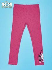 Różowe legginsy w kropki dla dziewczynki 101 DALMATYŃCZYKÓW