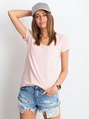 Różowy melanżowy t-shirt Square
