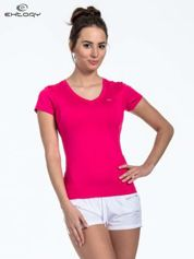 Różowy t-shirt sportowy termoaktywny