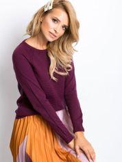 Śliwkowy sweter Sienna