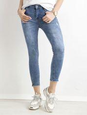 Spodnie jeansowe slim fit niebieskie