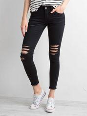 Spodnie rurki z dziurami czarne