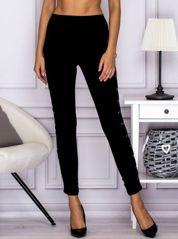 Spodnie z lampasami lace up czarne