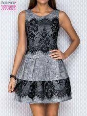 Sukienka z koronką szara
