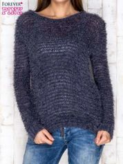 Sweter damski granatowy long hair
