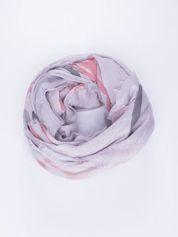 Szara bawełniana chustka z frędzelkami