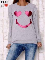 Szara bluza z motywem emoji