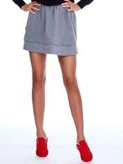 Szara dresowa spódnica z kieszeniami