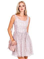 Szara sukienka w serduszka