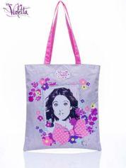Szara torba shopper bag dla dziewczynki DISNEY Violetta