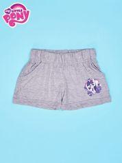 Szare szorty dla dziewczynki z fioletowym nadrukiem MY LITTLE PONY