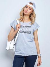 Szary t-shirt Fasten