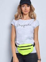Szary t-shirt Sunny