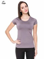 Szary termoaktywny t-shirt sportowy typu basic ♦ Performance RUN