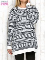 Szary wzorzysty sweter