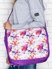 Szkolna torba na ramię motyw kwiatowy