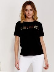 T-shirt czarny GIRL PRIDE