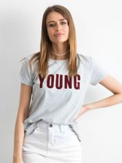 T-shirt szary Young