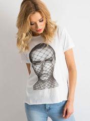 T-shirt z bawełny biały