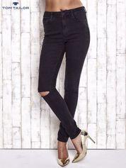 TOM TAILOR Czarne spodnie jeansowe cut out