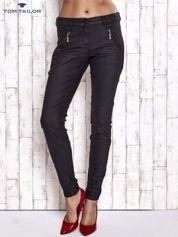 TOM TAILOR Czarne spodnie skinny z suwakami