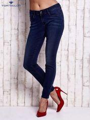TOM TAILOR Granatowe dopasowane spodnie jeansowe