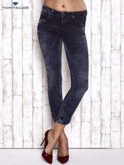 TOM TAILOR Granatowe przecierane jeansy