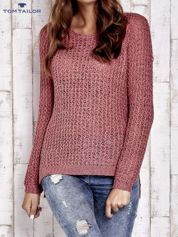 TOM TAILOR Różowy ażurowy sweter