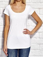 YUPS Biały asymetryczny t-shirt