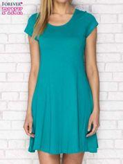 Zielona rozkloszowana sukienka